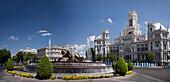 Spain-September 2009 Madrid City Cibeles Fountain and Post Office Bldg.