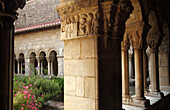France, Languedoc Roussillon, Pyrénées Orientales (66), Elne, Sainte Eulalie et Sainte Julie cathedral, the cloister