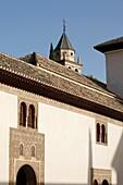 Alhambra - Nasrid Palaces- Palacio de Comares - Patio de Arrayanes . Granada. Spain.