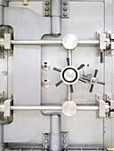 Closed Bank Vault Door, Chicago, Illinois, USA