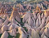 Tufa erosion in the Rose Valley, near Goereme, Goereme National Park, UNESCO World Nature Site, Cappadocia, Anatolia, Turkey