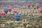 Hot Air Balloons near Goereme, UNESCO World Nature Site, Cappadocia, Turkey