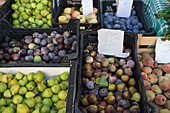 Fruit stall at the market, Loule, Algarve, Portugal, Europe