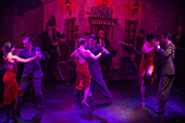 Tango dance show at El Viejo Almacen restaurant and bar, Buenos Aires, Buenos Aires, Argentina, South America