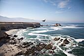 La Portada rock formation and coastline, Antofagasta, Chile, South America