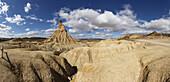 Cabezo Castildetierra, erosion formation in the desert Bardenas Reales, UNESCO Biosphere Reserve, province of Navarra, Northern Spain, Spain, Europe