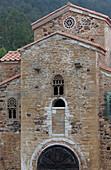 San Miguel de Lillo, chapel of the summer residence of King Ramiro I, 9th century, Preromanesque, UNESCO World Heritage Site, Monte Naranco, mount, near Oviedo, Camino Primitivo, Camino de Santiago, Way of Saint James, pilgrims way, province of Asturias,