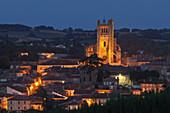 town view with Cathedral Sainte-Pierre, cathedral, gothic, Condom, Condom-en-Armanac, Department Gers, Region Midi-Pyrenees, Via Podiensis, Camino de Santiago, St. James Way, France, Europe