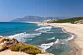 Sandy beach of Patara, lycian coast, Mediterranean Sea, Turkey