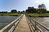 footbridge for sailingboats, Sieseby, Schlei, Schleswig-Holstein, Germany, Europe