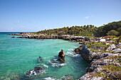 Coastline at Xel-Ha Water Park, Tulum, Riviera Maya, Quintana Roo, Mexico