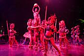 Dance performance at Tropicana cabaret club show, Havana, Havana, Cuba, Caribbean