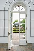 Open door at the Palmengarten, Frankfurt, Hesse, Germany, Europe