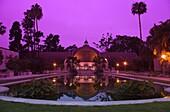 LAGUNA DA LAS FLORES REFLECTING POOL WINTER GARDEN BOTANICAL HOUSE BALBOA PARK SAN DIEGO CALIFORNIA USA