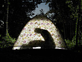 Couple having sex in tent