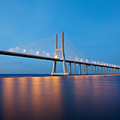 Vasco da Gama bridge at night. Vasco da Gama bridge at night
