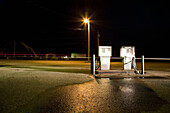 Fuel pumps at night