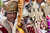 Meskel Cerimony in Lalibela Meskal, Meskal, Maskal, Mescel, Mesquel, which is taking place every September  For Meskel many pilgrims are coming to lalibela, to celebrate it at one of the holy palces in Ethiopia  Portrait of Clergymen during Meskel celebra