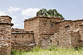 The village of Debre Damo on top of a table mountain in Tigray  The monastery Debre Damo is one of the important religious places of the ethiopian christian orthodox church and was founded in the 6th century  located high on top of a table mountain amba i