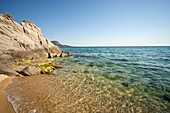 rocky coast at the small holiday resort of Toroni, Sithonia, Greece