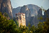 Rousánou Monastery, part of the Metéora complex of Eastern Orthodox monasteries, UNESCO World Heritage in the Plain of Thessaly, Greece