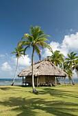 Hut, Yandup Island, San Blas Islands also called Kuna Yala Islands, Panama