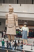 Marionettes used in 2008 Olympics ceremony, in bronze chariots museum, site of terracotta army, Xi'an, Shaanxi Province, China