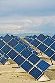 Solar energy panels in Zuera, Saragossa, Aragon, Spain