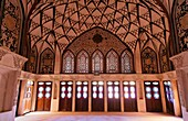 Ornate interior at the Tabatabiyeh traditional merchant´s residence, Kashan, Iran