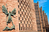 St Michael´s Victory over the Devil, sculpture by Sir Jacob Epstein at St Michael´s or Coventry Cathedral, England