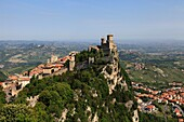 Republic of San Marino, City of San Marino, Guaita  The first, oldest andmost famous of the three towers  It was constructed in the 11th century and served briefly as a prison