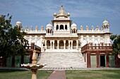 Low Angle Photograph Of Jaswant Thada Memorial Temple Shoot On A Bright Day With Blue Sky, Jodhpur, Rajasthan, India, Asia