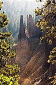 Unusual rock formations - Crater Lake National Park - Crater Lake, Oregon