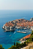 Morning over Dubrovnik, one of the most popular tourist destinations on the Adriatic, Croatia, UNESCO