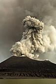 Tavurvur Volcano at day, Tavurvur Volcano, Rabaul, East New Britain, Papua New Guinea, Pacific