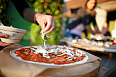 Home-made pizza, Klein Thurow, Roggendorf, Mecklenburg-Western Pomerania, Germany