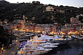 Italy, Liguria, Portofino, general view, harbour