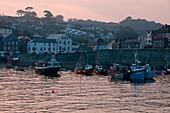 U.K, Cornwall,Mevagissey, the harbour , twilight