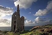 U.K,Cornwall,old tin mines in Botallack