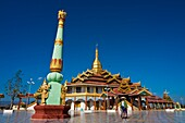 Myanmar (Burma), Shan State, Inle Lake, village of Nam Hu, the Paung Daw Oo Pagoda, the most sacred religious site of the state of Shan
