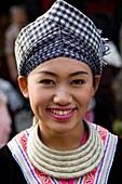 Thailand,Golden Triangle,Chiang Mai,Hmong Hilltribe Woman in Traditional Costume