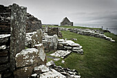 Broch of Gurness, a fortified dwelling dating back to the Iron Age around 2000 BC, Orkney Islands Scotland., Broch of Gurness, Orkney Mainland, Scotland