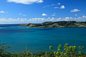Willoughby Bay under cloudy sky, Antigua, West Indies, Caribbean, Central America, America