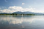 Lake Chiemsee near Uebersee, Chiemsee, Bavaria, Germany