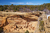 Cliff dwellings at Mesa Verde National Park, Colorado, USA, America