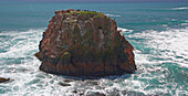 Rock island at the Pacific coast, Andrew Molera State Park, Big Sur Coast, All American Hwy, Pacific Ocean, California, USA, America