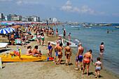 People on the beach of Cattolica, Adriatic coast, Emilia-Romagna, Italy