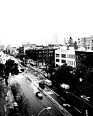 Urban Street Scene, High Angle View, New York City, USA