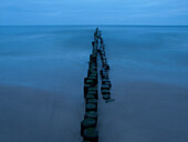 Breakwater at the Baltic coast, Usedom, Mecklenburg Western Pomerania, Germany, Europe
