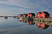 Fishing harbour at seaside resort Boltenhagen, Mecklenburg Western Pomerania, Germany, Europe